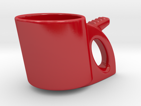 Freedom Cup in Gloss Red Porcelain
