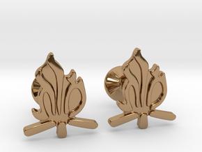Hebrew Monogram Cufflinks - Tehiya & Mordi in Polished Brass