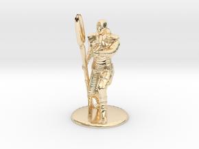 Jaffa Guard Firing Zat - 35mm in 14k Gold Plated Brass