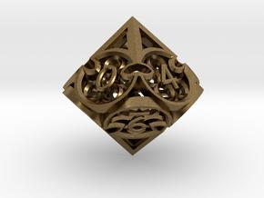 Gothic Rosette d10 in Natural Bronze