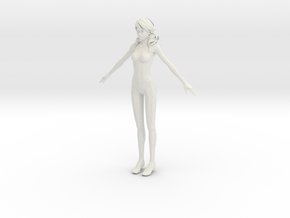 1/24 Female Body for Scale Modeling in White Strong & Flexible