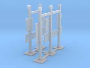 MOF Mail Display Lamp Post Group - 72:1 Scale in Smooth Fine Detail Plastic