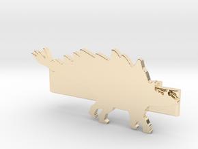 Stegosaurus Tie Clip in 14k Gold Plated Brass