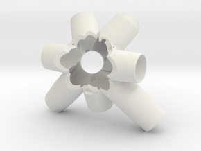 150114 Cluster - Side 1 in White Natural Versatile Plastic
