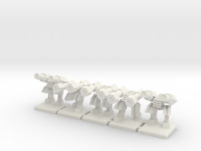 TA ARM Hammer Squad - 1cm tall in White Natural Versatile Plastic