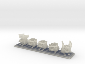 TA Construction Kbot Squad - 1cm tall in Transparent Acrylic