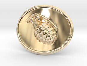 Booommm Belt Buckle in 14K Yellow Gold