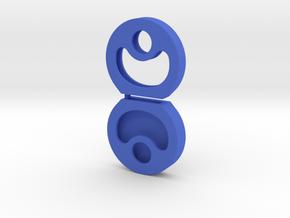 Key cap - test 1 in Blue Processed Versatile Plastic