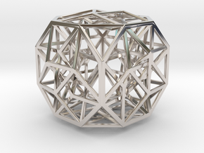 The Cosmic Cube in Rhodium Plated Brass