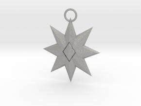 Star Pendant in Raw Aluminum