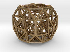 The Cosmic Cube Small in Polished Gold Steel