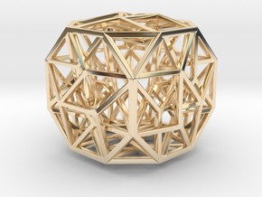 The Cosmic Cube Small in 14K Yellow Gold