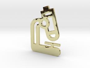 Microscope Pendant Jewelry in 18k Gold