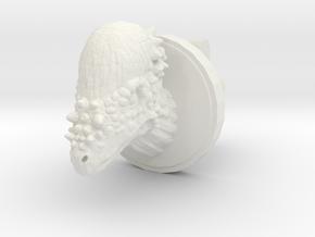 Pachycephalosaurus Head Cufflink in White Natural Versatile Plastic