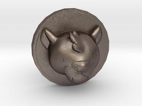 Milo Cufflink in Polished Bronzed Silver Steel