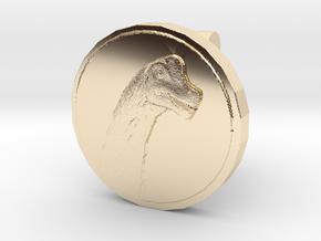 Sauroposeidon Cufflink in 14K Yellow Gold