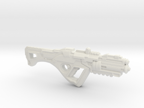1:6th Scale 'Falcor' Assault Rifle 132mm Length in White Natural Versatile Plastic