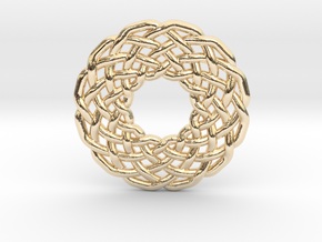 0510 Celtic Knotting - Circular Grid [12,3] in 14K Yellow Gold