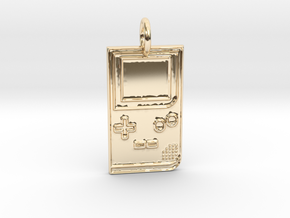 Game Boy 1989 Pendant in 14K Yellow Gold