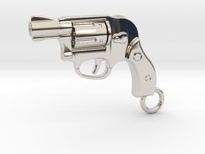 Bodyguard Gun Keychain in Platinum