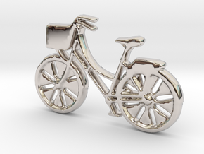 Bicycle No.1 Pendant and Keychain in Rhodium Plated Brass