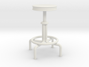 "1:24 Drafting Stool 30"" Tall in White Strong & Flexible"