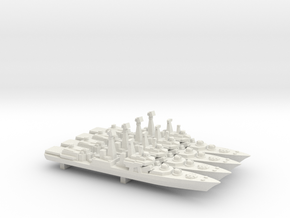 Udaloy I-class destroyer x 4, 1/2400 in White Natural Versatile Plastic