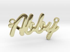 "Name Pendant - ""Abby"" in 18k Gold"