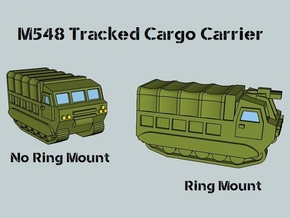 3mm M548 - Covered Wagon, With Ring-Mount (4 pcs) in White Natural Versatile Plastic