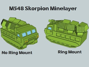 3mm M548 Skorpion Minelayer (4 pcs) in White Acrylic