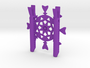 Dakotas Snow Flake in Purple Processed Versatile Plastic