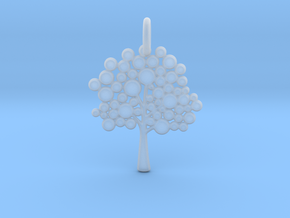 Tree Pendant in Smooth Fine Detail Plastic