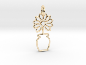 Tree No.3 Pendant in 14k Gold Plated Brass