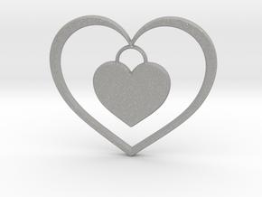 Pendant No.5 Heart in Aluminum