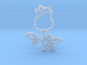 Rose No.1 Pendant in Smooth Fine Detail Plastic