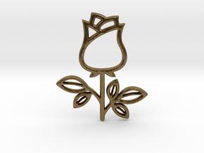 Rose No.1 Pendant in Natural Bronze