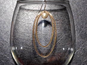 Focal Point Earring (small) in Raw Brass