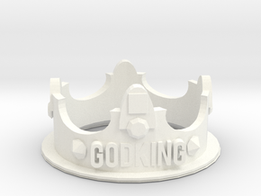 GodKING Crown - Pendant in White Processed Versatile Plastic