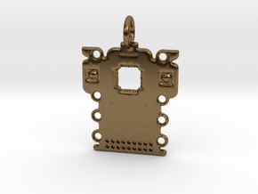 Electronics Pendant in Polished Bronze