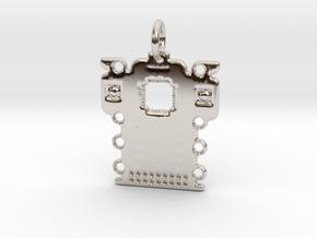Electronics Pendant in Platinum