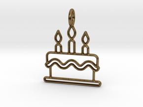 Birthday Cake in Natural Bronze