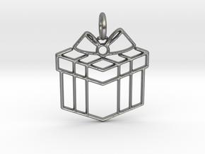 Present Pendant in Natural Silver