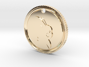 PokeCoin Medal in 14k Gold Plated Brass