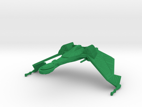 1/2500 QuD (Insurrection) Frigate - Attack mode in Green Processed Versatile Plastic