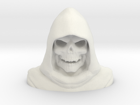 Skeletorbust in White Natural Versatile Plastic