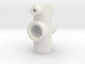 100mm Eye Centre Shaft  in White Natural Versatile Plastic
