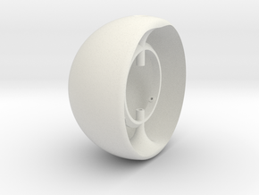 100mm EyeRig Eyeball in White Natural Versatile Plastic