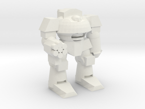 Cybernetic Super Soldier Walker in White Natural Versatile Plastic