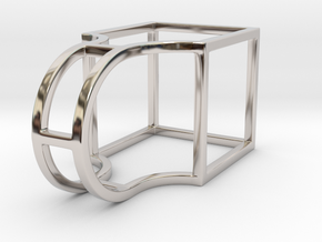 The Box - Size 5 in Rhodium Plated Brass