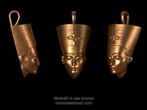 Nefertiti necklace pendant in Natural Bronze